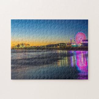 USA, California, Los Angeles, Santa Monica Pier Jigsaw Puzzle