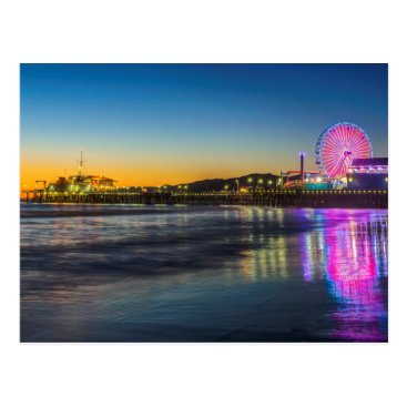 USA Themed USA, California, Los Angeles, Santa Monica Pier Postcard