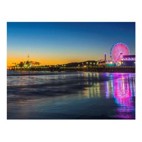 USA California Los Angeles Santa Monica Pier Postcard