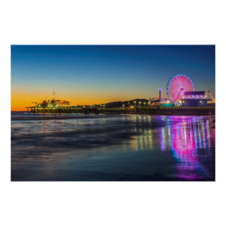 USA, California, Los Angeles, Santa Monica Pier Poster