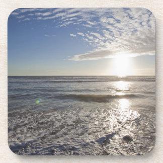 USA, California, Los Angeles, seascape Beverage Coaster