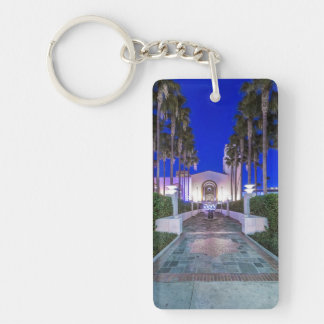 USA, California, Los Angeles, Union Station Rectangle Acrylic Keychain