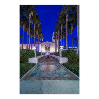 USA, California, Los Angeles, Union Station Poster