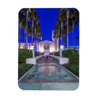 USA, California, Los Angeles, Union Station Rectangle Magnet
