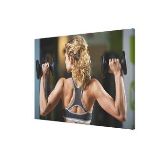 USA, California, Los Angeles, woman exercising Canvas Print