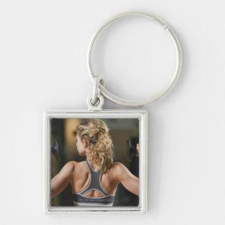 USA, California, Los Angeles, woman exercising Key Chains