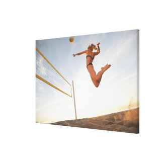 USA, California, Los Angeles, woman playing 2 Gallery Wrap Canvas
