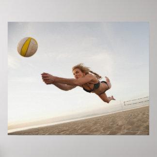 USA, California, Los Angeles, woman playing Poster