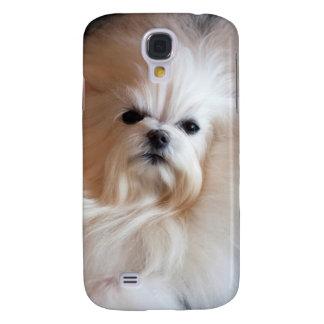 USA, California. Maltese Lying Down Samsung Galaxy S4 Cover