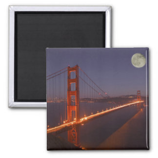 USA, California, Marin. Moonrise above the 2 Inch Square Magnet