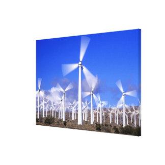 USA, California, Mojave. View of a wind turbine Canvas Print