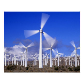 USA, California, Mojave. View of a wind turbine Poster