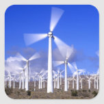 USA, California, Mojave. View of a wind turbine Square Stickers