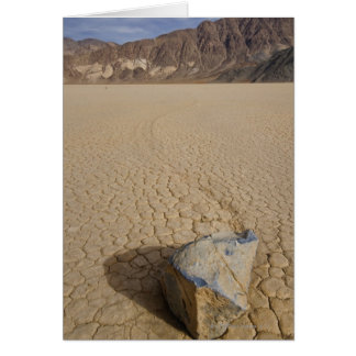 USA, California, Moving rock in desert 2 Card