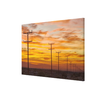 USA, California, Palm Springs, power line at 2 Canvas Print