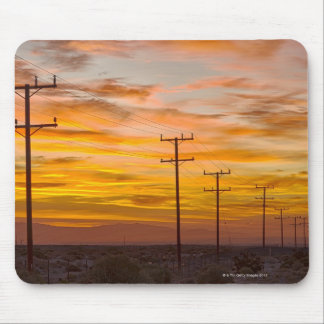 USA, California, Palm Springs, power line at 2 Mouse Pad