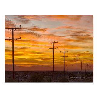 USA, California, Palm Springs, power line at 2 Postcard