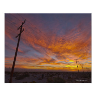 USA, California, Palm Springs, power line at Poster
