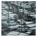 USA, California, Palm Springs. Trailer Park on Large Square Tile