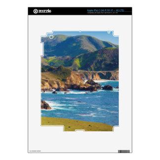 USA, California. Panorama Of Big Sur With Bixby iPad 3 Skin