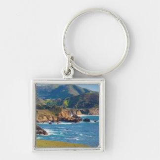 USA, California. Panorama Of Big Sur With Bixby Key Chains