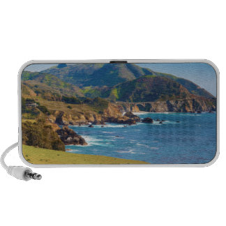 USA, California. Panorama Of Big Sur With Bixby Speaker