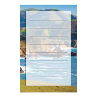 USA, California. Panorama Of Big Sur With Bixby Stationery