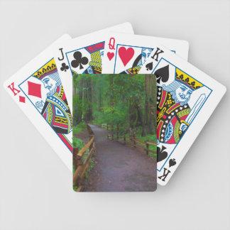 USA, California. Path Among Redwoods Bicycle Playing Cards