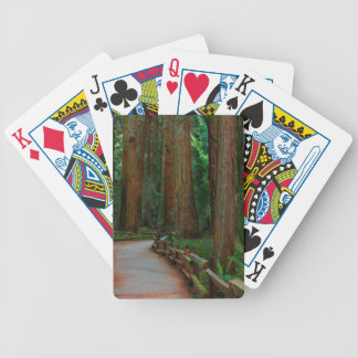 USA, California. Path Among Redwoods In Muir Bicycle Playing Cards