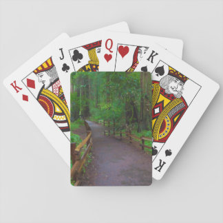 USA, California. Path Among Redwoods Playing Cards