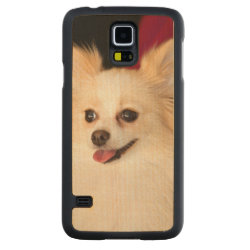 Carved ® Samsung Galaxy S5 Slim Wood Case with Pomeranian Phone Cases design
