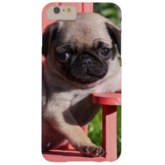 USA, California. Pug Puppy Slouching Barely There iPhone 6 Plus Case