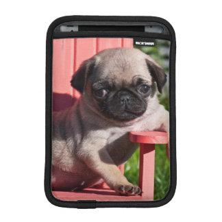 USA, California. Pug Puppy Slouching iPad Mini Sleeve