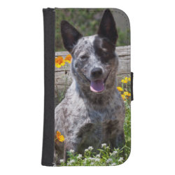 Samsung Galaxy S4 Wallet Case with Australian Cattle Dog Phone Cases design