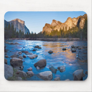 USA, California. Rocky Reflections In Merced Mouse Pad