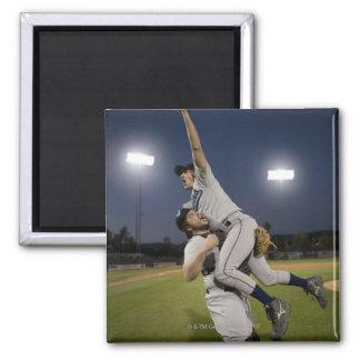 USA, California, San Bernardino, baseball 10 2 Inch Square Magnet