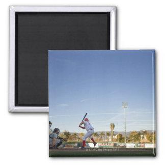 USA, California, San Bernardino, baseball 11 2 Inch Square Magnet