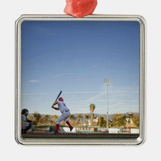 USA, California, San Bernardino, baseball 11 Metal Ornament