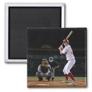 USA, California, San Bernardino, baseball 12 2 Inch Square Magnet