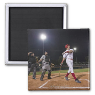 USA, California, San Bernardino, baseball 2 Inch Square Magnet