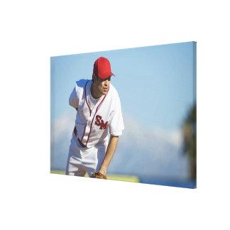 USA, California, San Bernardino, baseball 3 Stretched Canvas Prints