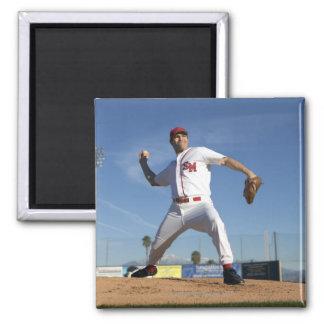 USA, California, San Bernardino, baseball 4 2 Inch Square Magnet
