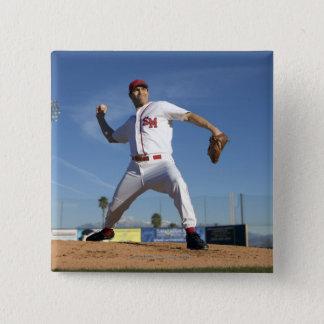 USA, California, San Bernardino, baseball 4 Button