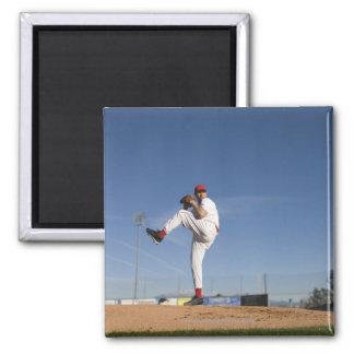 USA, California, San Bernardino, baseball 9 2 Inch Square Magnet