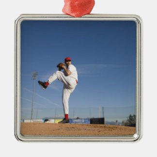 USA, California, San Bernardino, baseball 9 Metal Ornament