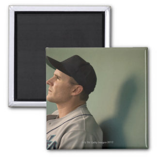 USA, California, San Bernardino, baseball player 2 Inch Square Magnet