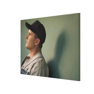 USA, California, San Bernardino, baseball player Canvas Print
