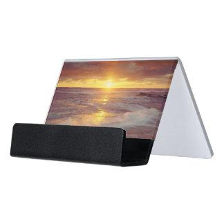 USA, California, San Diego. Sunset Cliffs beach Desk Business Card Holder
