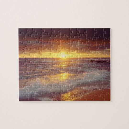 USA, California, San Diego. Sunset Cliffs beach Jigsaw Puzzle