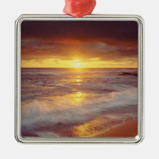 USA, California, San Diego. Sunset Cliffs beach Metal Ornament